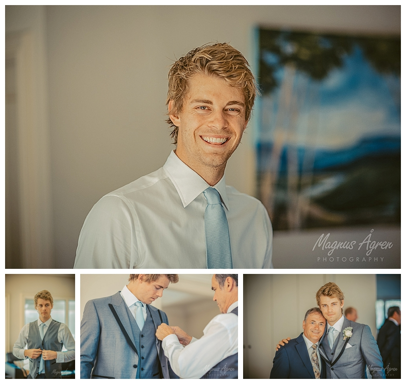 Luke Mitchell groom getting ready at wedding