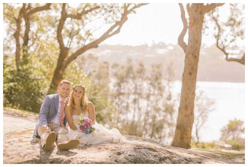 cronulla wedding, bush. natural, outdoors, ceremony,