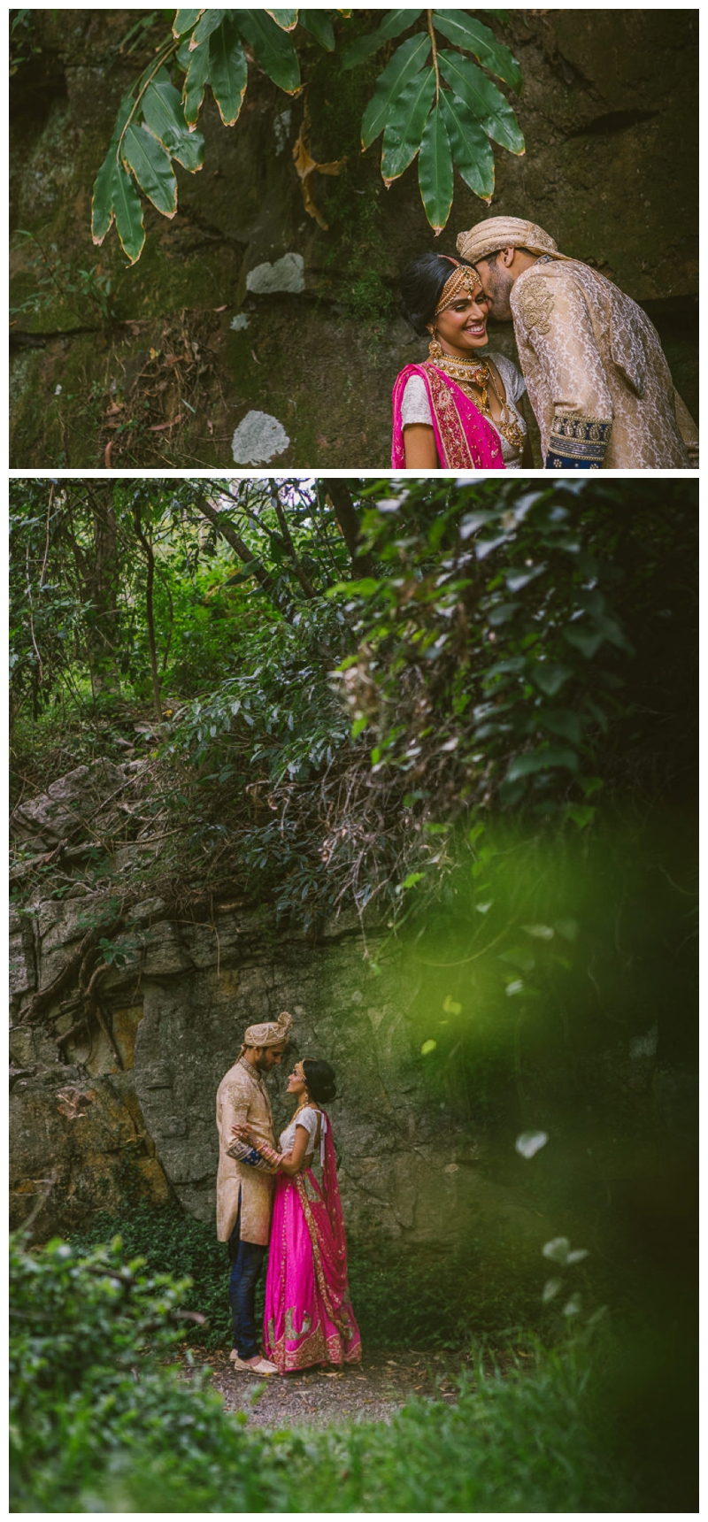 nature, bush, rainforest, trees, wedding photographer, hindu, just married, love, bride and groom