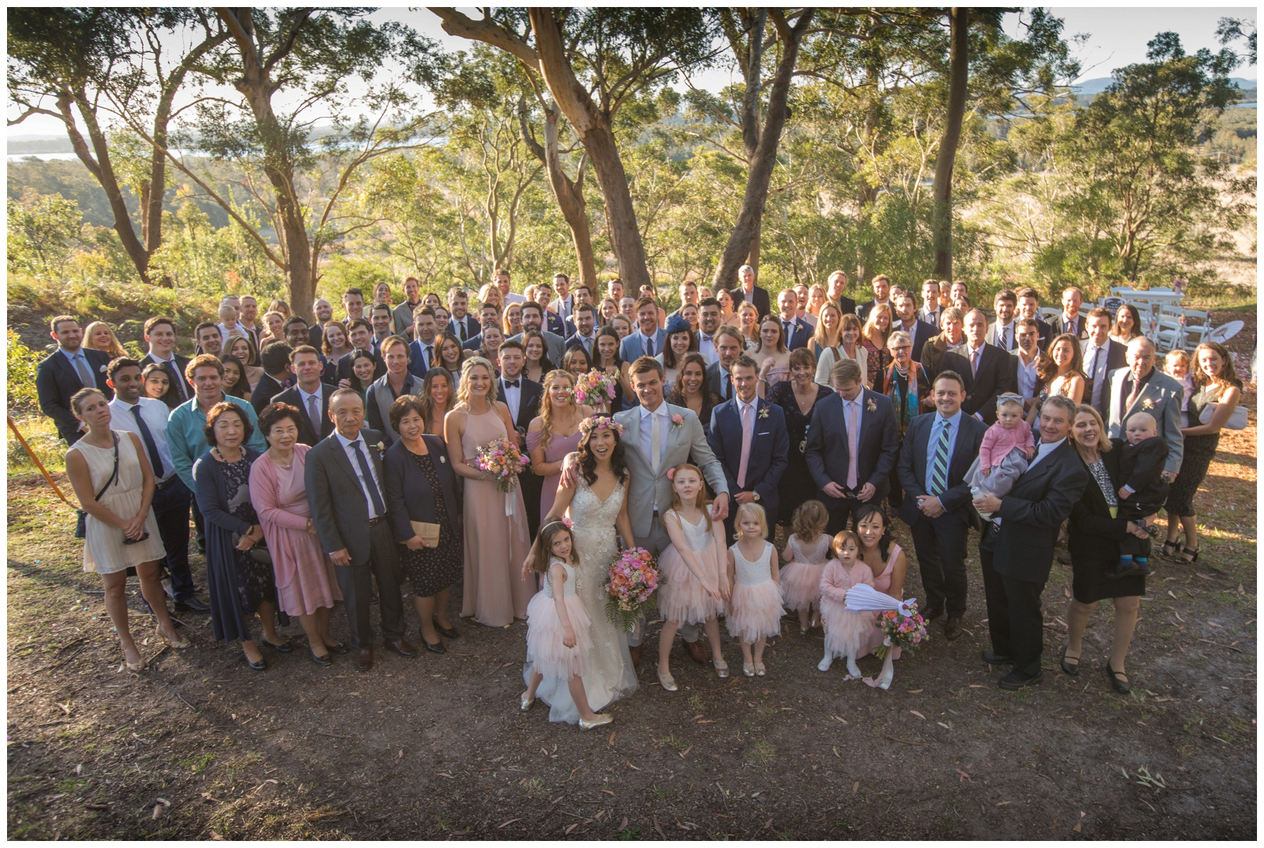 Country Wedding photographer, Nelson Bay wedding, Kangaroo Valley wedding photographer, Southern highlands photographer, group photo, relaxed wedding photographer,