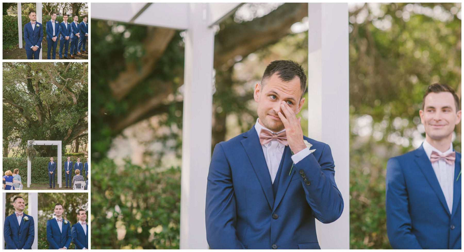 Patrick and Hollie, Coolangatta estate wedding, south coast wedding photographer, Southern Highlands wedding photographer, southern highlands photographer, groom, tearing up, tears, crying, emotional day