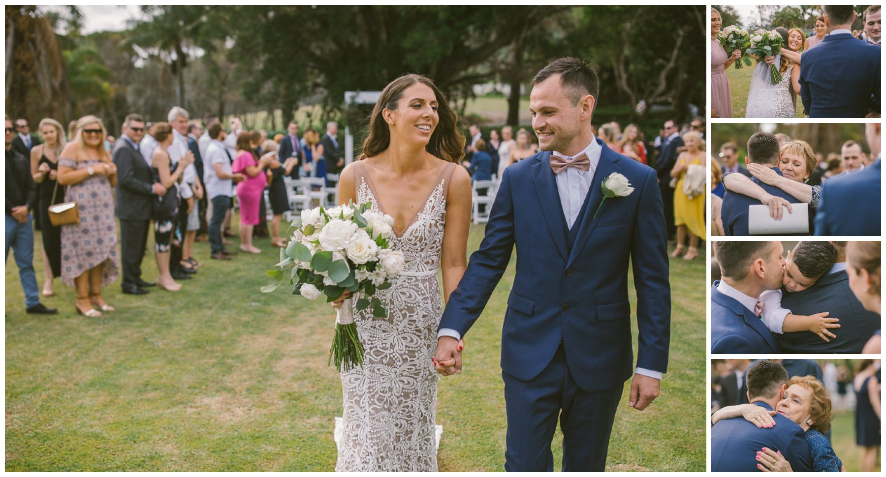 Patrick and Hollie, Coolangatta estate wedding, south coast wedding photographer, Southern Highlands wedding photographer, southern highlands photographer, ceremony exit