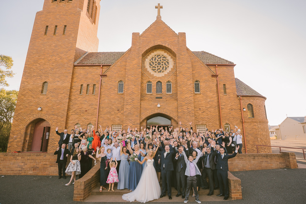 Griffith Wedding photographer, southern highlands wedding photographer, southern highlands photographer, country wedding photographer, relaxed wedding photographer, not in your face photography, farm wedding photographer, group photo, church wedding