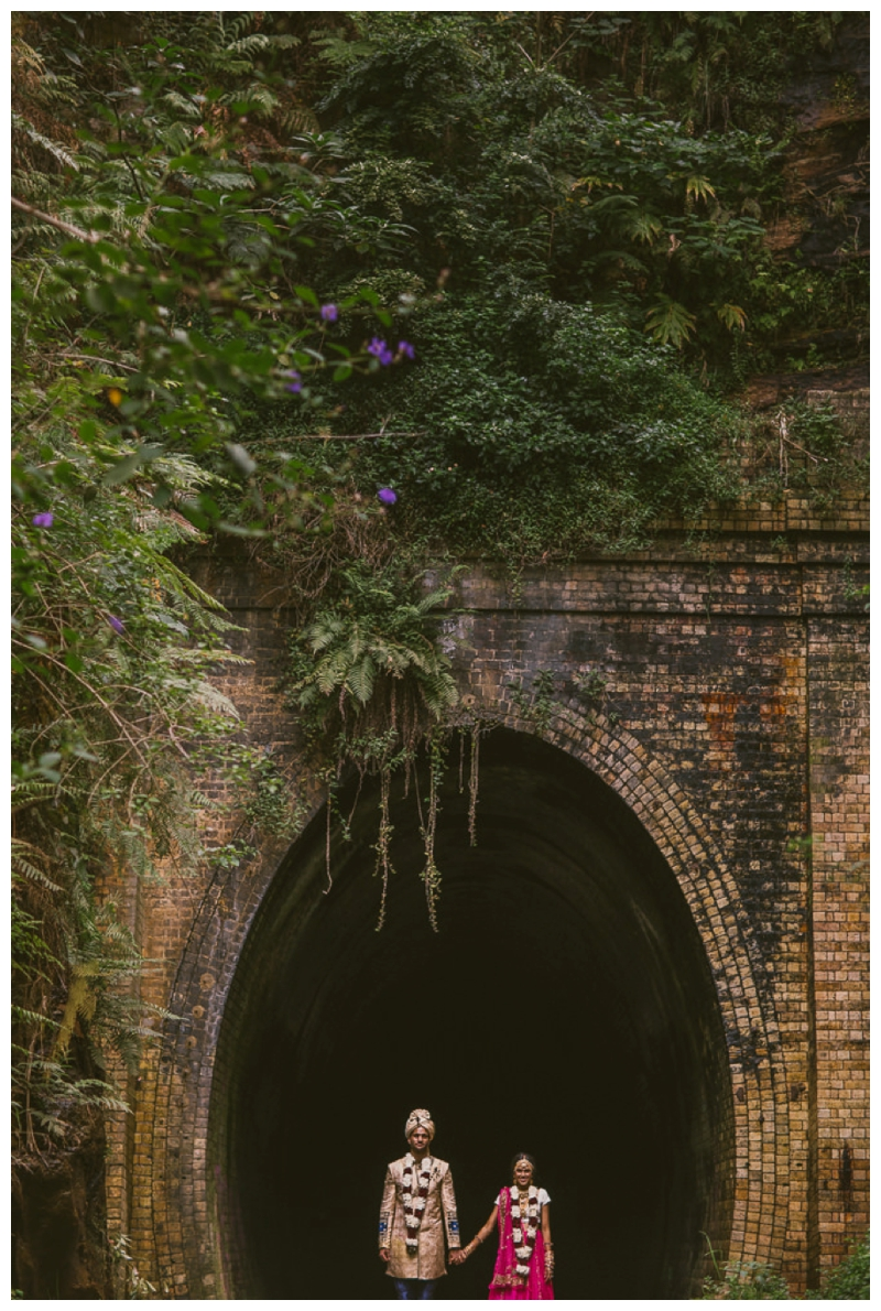 train tunnel, nature, wedding photography,location shoot, love, bride adn groom, just married, nature, rainforest, wedding phtography, nature photo