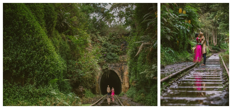 south coast, rain forest location shoot, helensburgh, indian wedding, bride groom ,relaxed, bush, photography, wedding