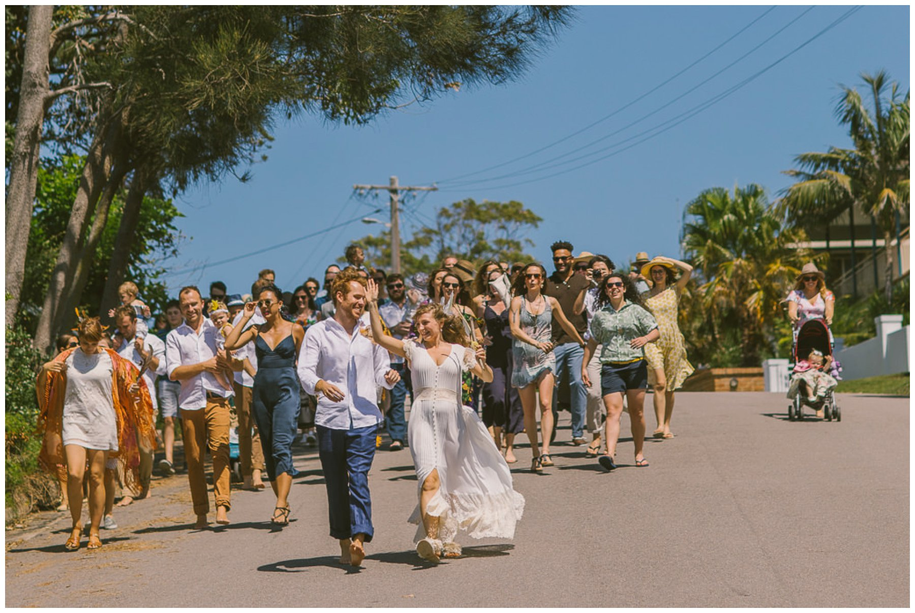 diy wedding photographer, relaxed wedding photographer, southern highlands wedding photographer, southern highlands photographer, glenworth valley wedding photographer, bush wedding photographer, festival wedding, march the streets