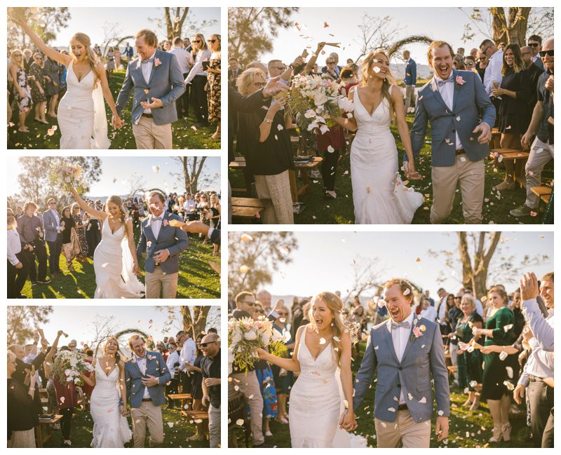 terara riverside gardens south coast wedding photographer first kiss wedding photography outdoor ceremony married by todd