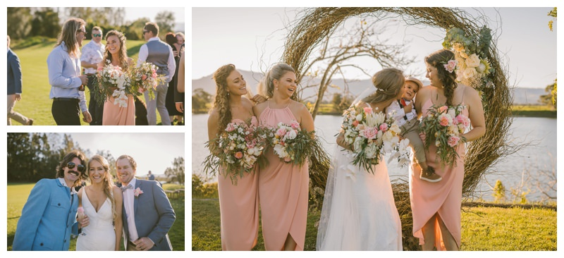 terara riverside gardens south coast wedding photographer first kiss wedding photography outdoor ceremony diy wedding relaxed wedding