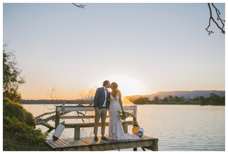 terara riverside gardens south coast wedding photographer first kiss wedding photography outdoor ceremony