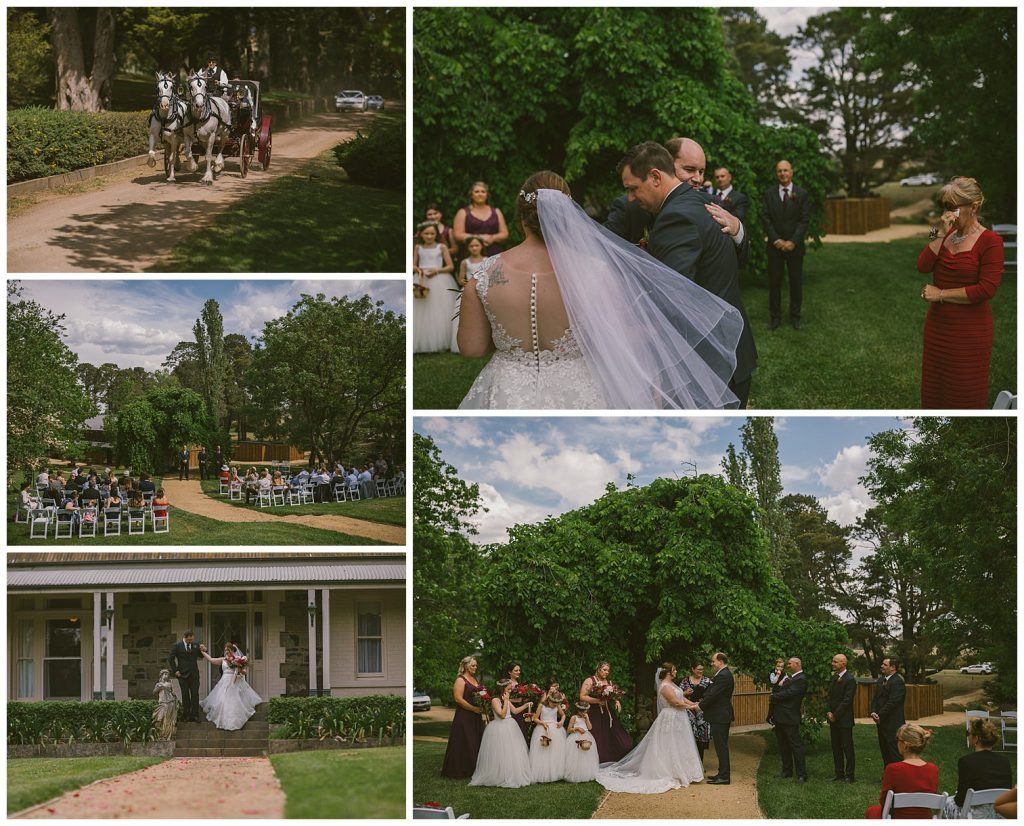 horse and carriage wedding photographer, goulburn photographer, southern highlands wedding photographer bowral