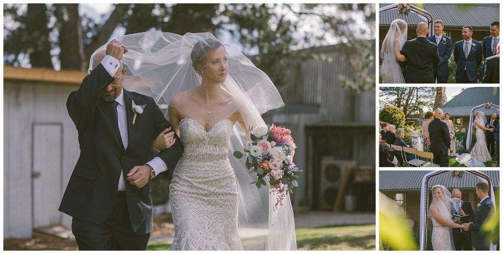 wedding ceremony, mali brae farm, southern highlands, moss vale