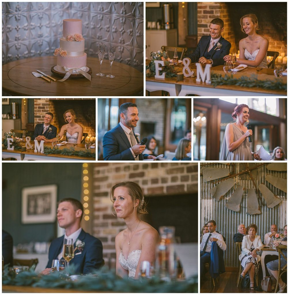 wedding speeches, southern highlands wedding venue reception, emotional photographer, country wedding photographer