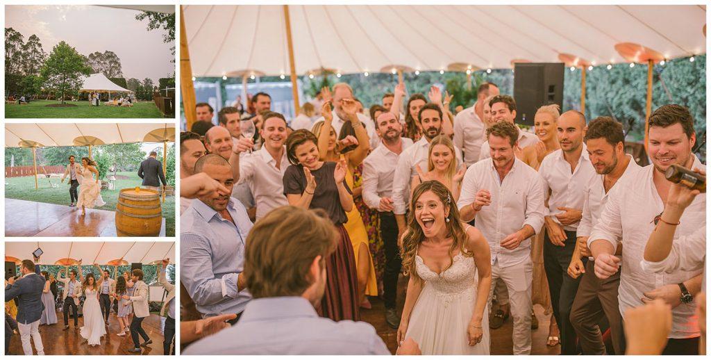 dance floor, bridal party, outdoor wedding photographer, relaxed wedding photographer, wedding photographer