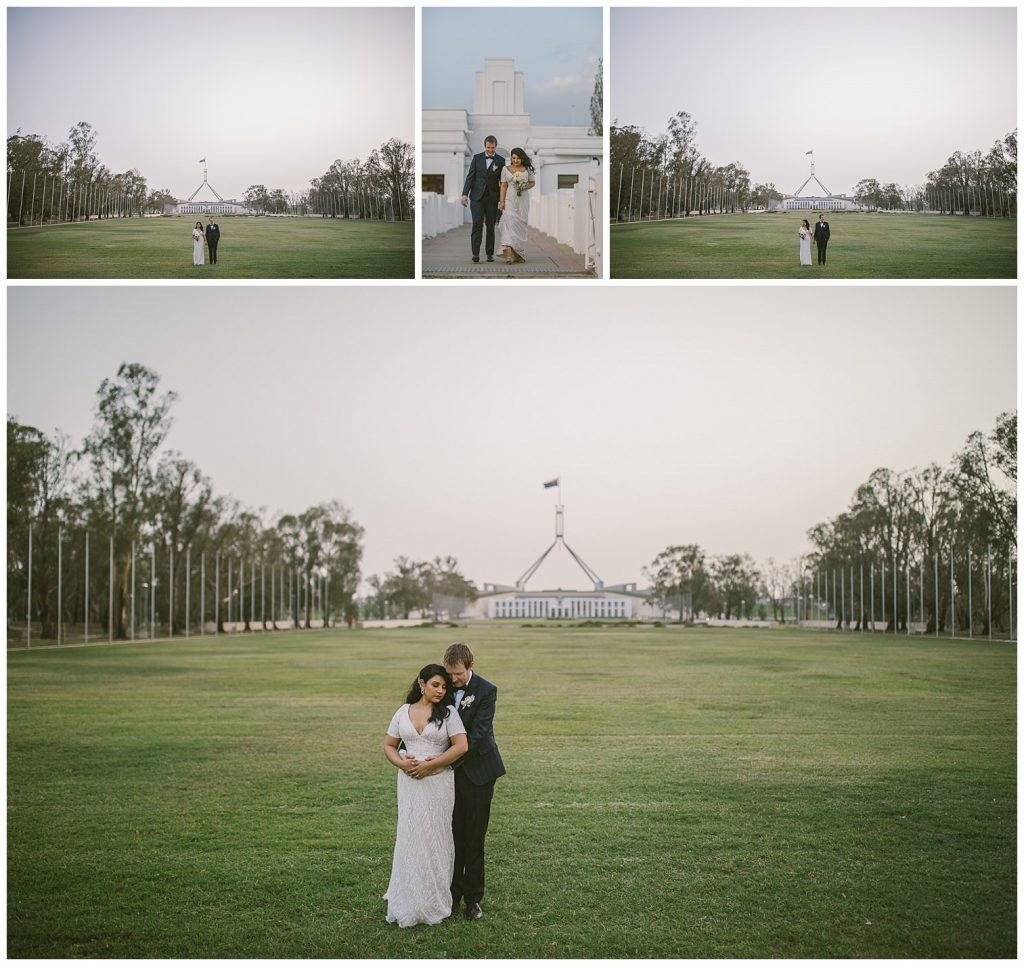 canberra old parliament house wedding, museum of australian democracy wedding, new parliament house, parliament lawn