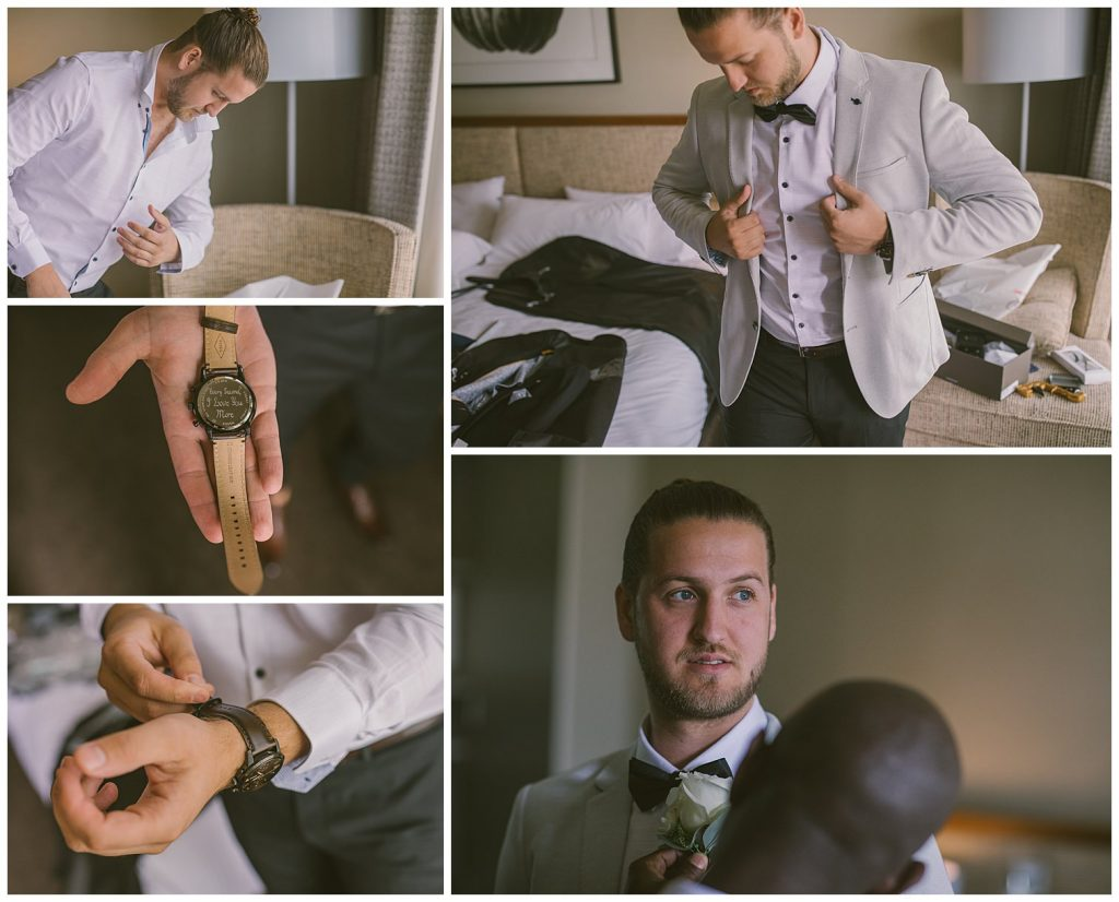 goulburn wedding photographer, groom, watch, goulburn couple, country wedding