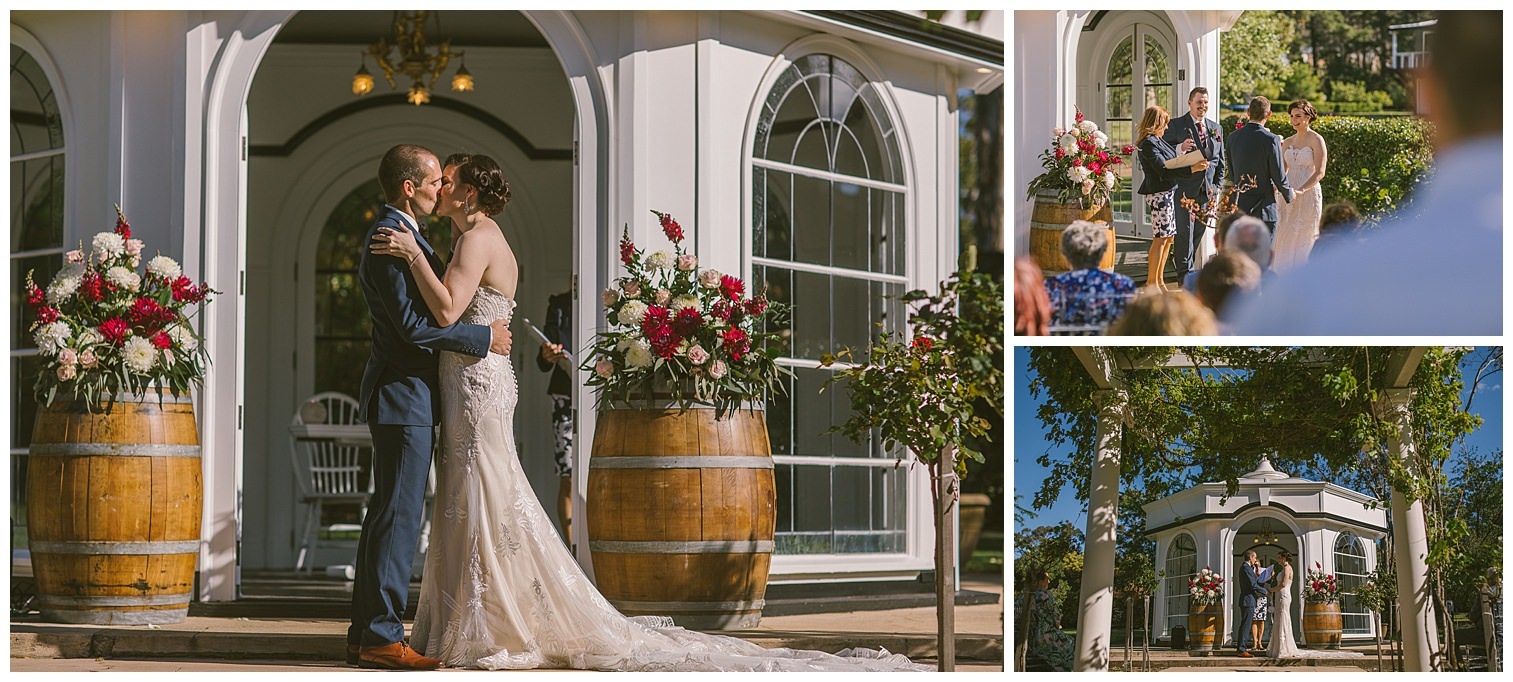 gazebo, rotunda, chilled wedding photographer, ceremony, not in your face photography, the kiss